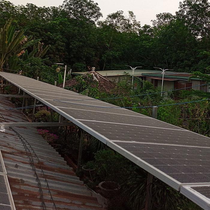 lắp đặt điện mặt trời độc lập 5KW cho chú Nghĩa ở Tiền Giang 1