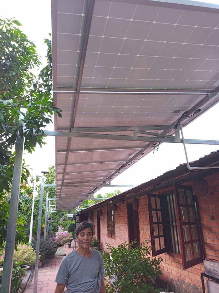 lắp đặt điện mặt trời độc lập 5KW cho chú Nghĩa ở Tiền Giang 2