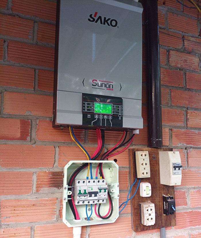 lắp đặt điện mặt trời độc lập 5KW cho chú Nghĩa ở Tiền Giang 3