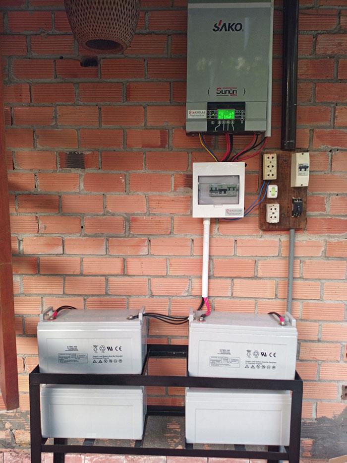 lắp đặt điện mặt trời độc lập 5KW cho chú Nghĩa ở Tiền Giang 4