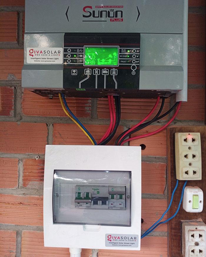 lắp đặt điện mặt trời độc lập 5KW cho chú Nghĩa ở Tiền Giang 5