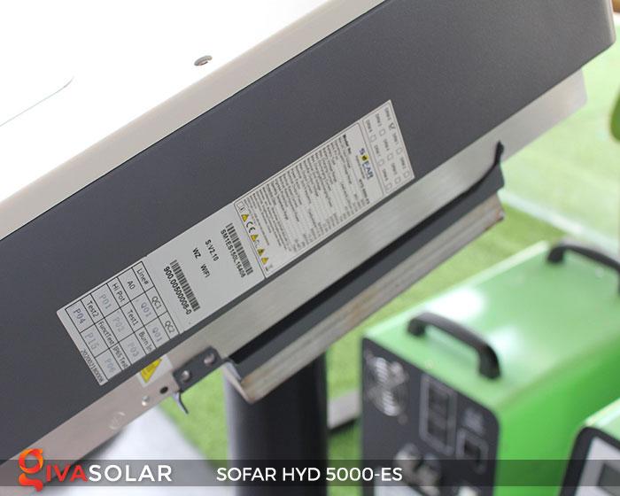 Inverter hòa lưới có lưu trữ Sofar HYD 5000-ES 7