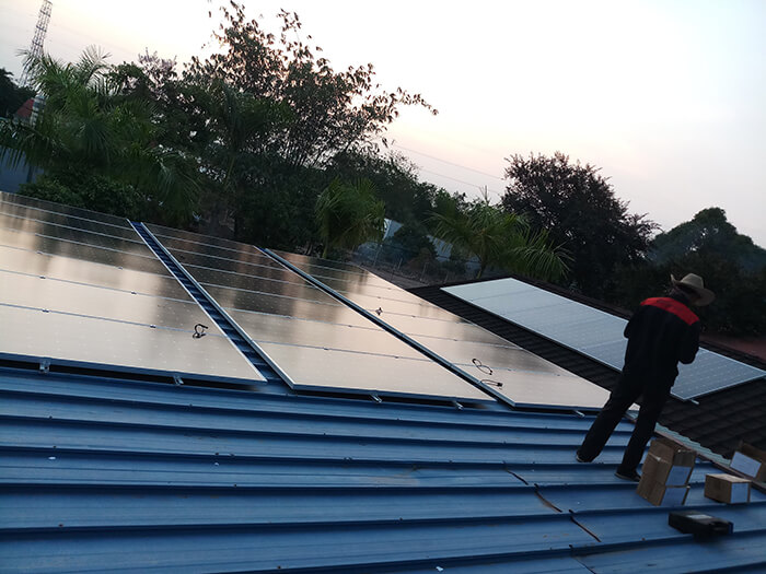 Lắp đặt điện mặt trời 30KW cho công ty Thụ Viện ở Củ Chi 11