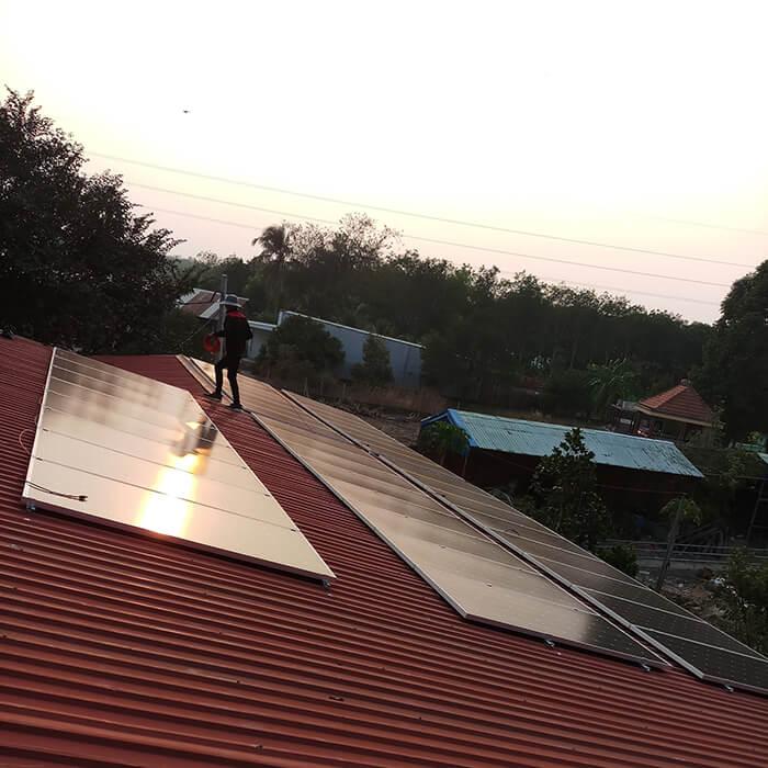 Lắp đặt điện mặt trời 30KW cho công ty Thụ Viện ở Củ Chi 12