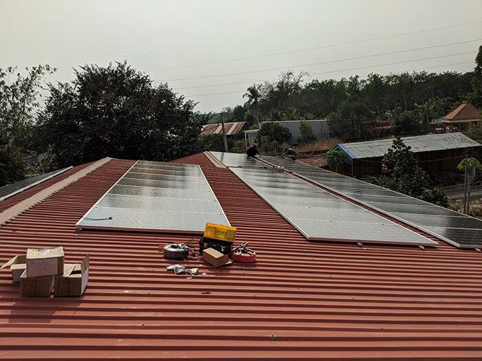 Lắp đặt điện mặt trời 30KW cho công ty Thụ Viện ở Củ Chi 14