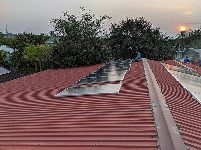 Lắp đặt điện mặt trời 30KW cho công ty Thụ Viện ở Củ Chi 15