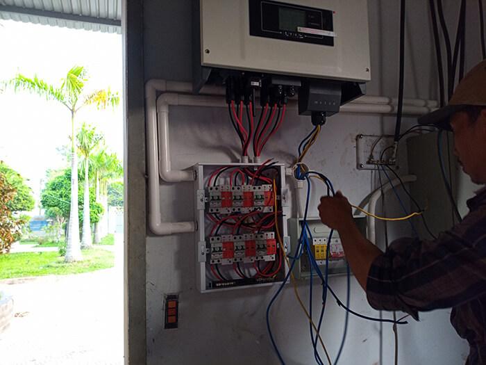 Lắp đặt điện mặt trời 30KW cho công ty Thụ Viện ở Củ Chi 17