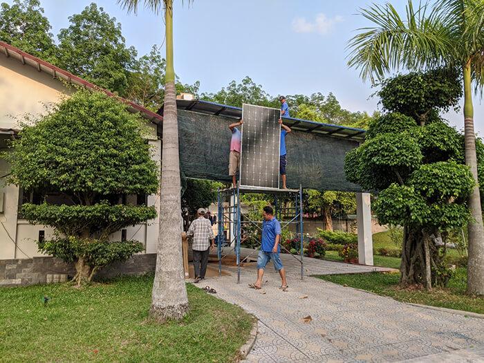 Lắp đặt điện mặt trời 30KW cho công ty Thụ Viện ở Củ Chi 6