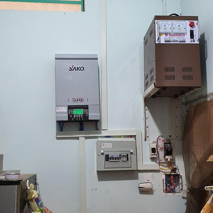 Lắp đặt hệ thống điện mặt trời độc lập 3KW cho anh Linh ở Long An 10