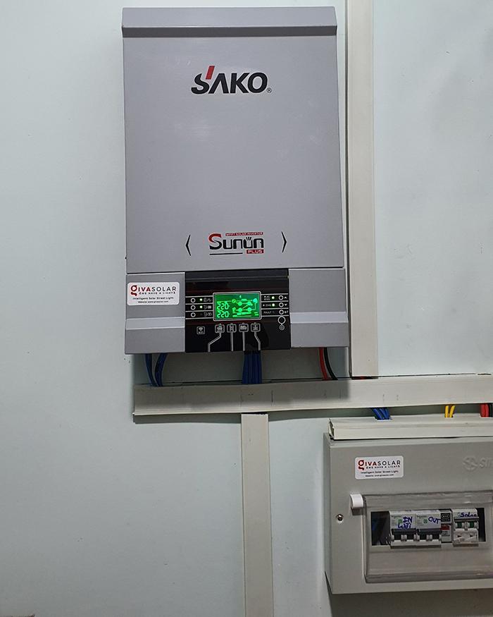 Lắp đặt hệ thống điện mặt trời độc lập 3KW cho anh Linh ở Long An 11