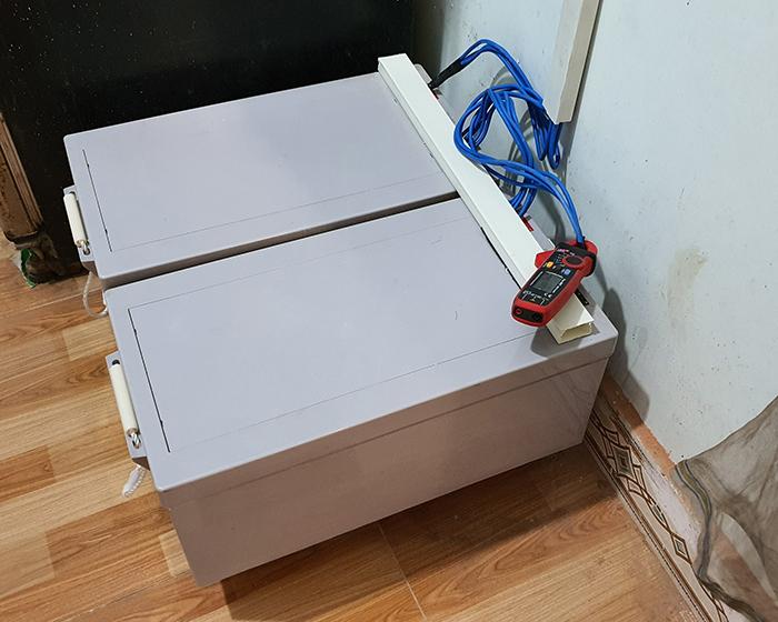 Lắp đặt hệ thống điện mặt trời độc lập 3KW cho anh Linh ở Long An 14