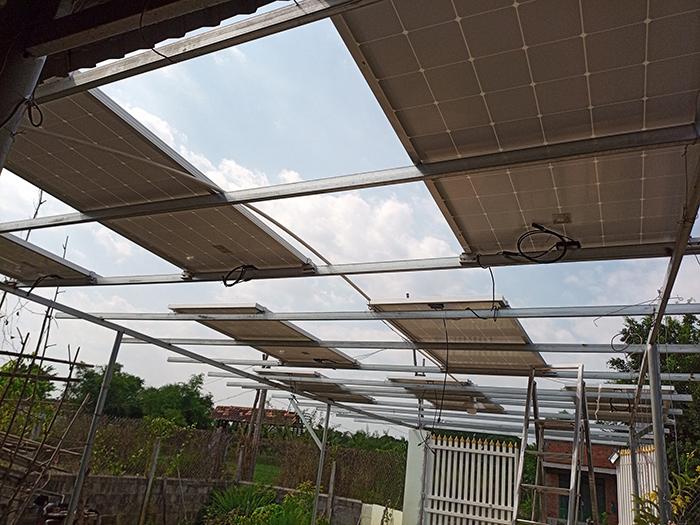 Lắp đặt hệ thống điện mặt trời độc lập 3KW cho anh Linh ở Long An 5