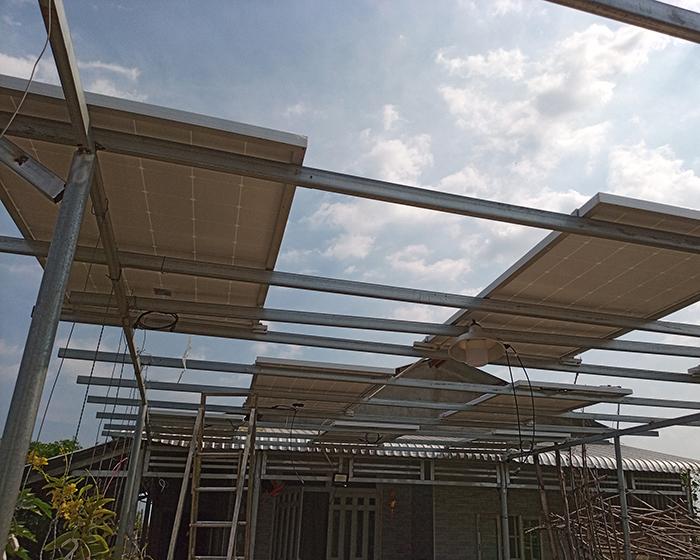 Lắp đặt hệ thống điện mặt trời độc lập 3KW cho anh Linh ở Long An 6
