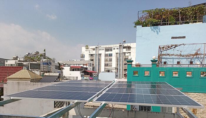 Lắp điện năng lượng mặt trời hòa lưới 4 KW cho chú Phú ở Bình Thạnh 5