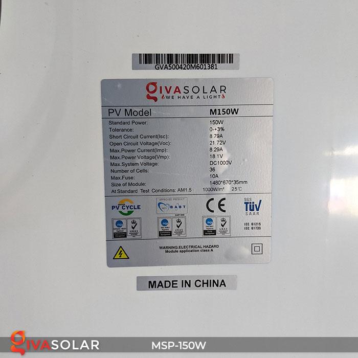 pin năng lượng mặt trời MONO 150W 11