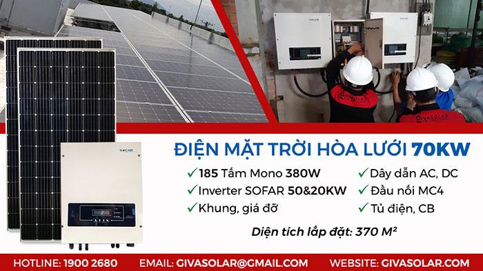 điện mặt trời hòa lưới 70 KWp