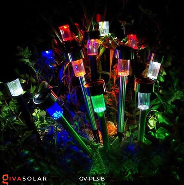 Đèn Led cắm đất trang trí năng lượng mặt trời mini GV-PL31B 13