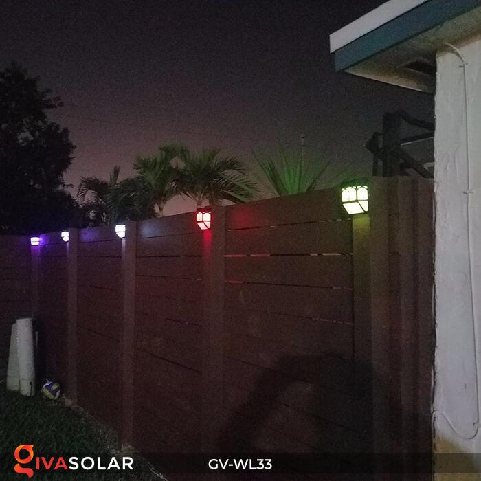 Đèn gắn tường trang trí năng lượng mặt trời GV-WL33 15