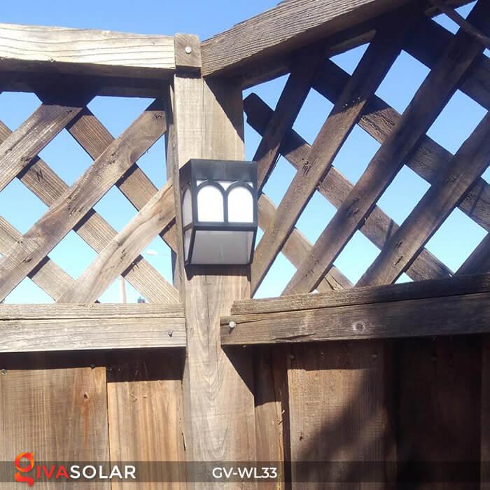 Đèn gắn tường trang trí năng lượng mặt trời GV-WL33 3