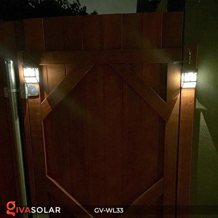 Đèn gắn tường trang trí năng lượng mặt trời GV-WL33 5