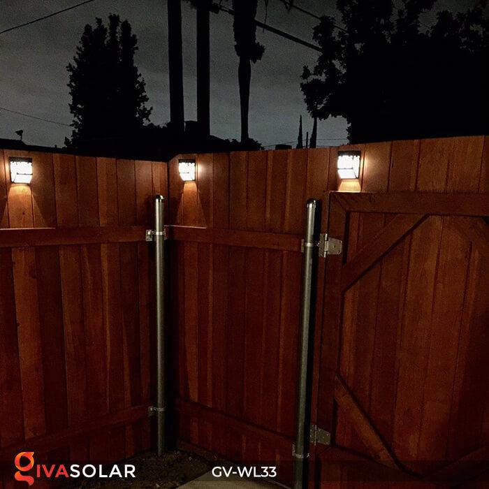 Đèn gắn tường trang trí năng lượng mặt trời GV-WL33 6