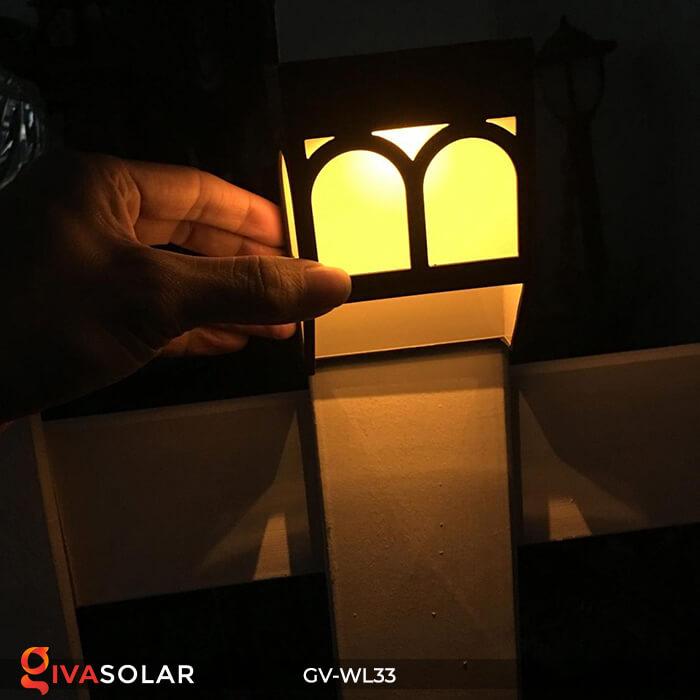 Đèn gắn tường trang trí năng lượng mặt trời GV-WL33 7