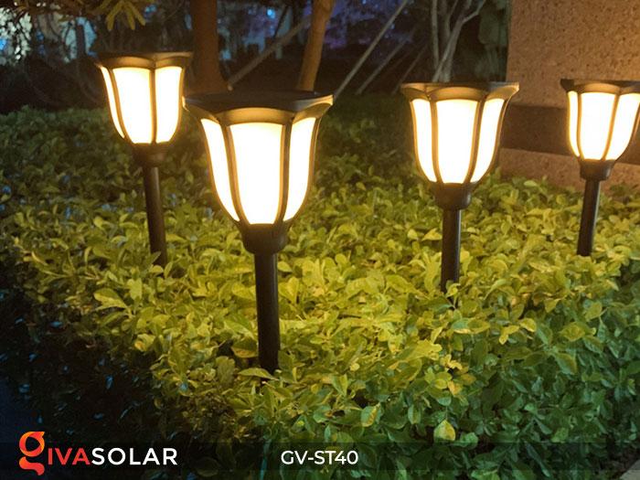 Đèn LED năng lượng mặt trời 3 trong 1 ánh sáng ngọn lửa 10