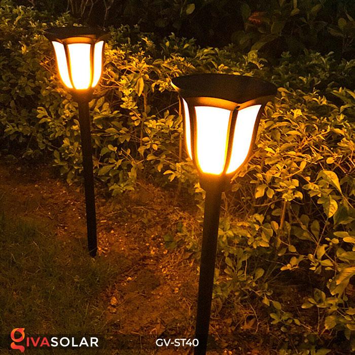 Đèn LED năng lượng mặt trời 3 trong 1 ánh sáng ngọn lửa 12