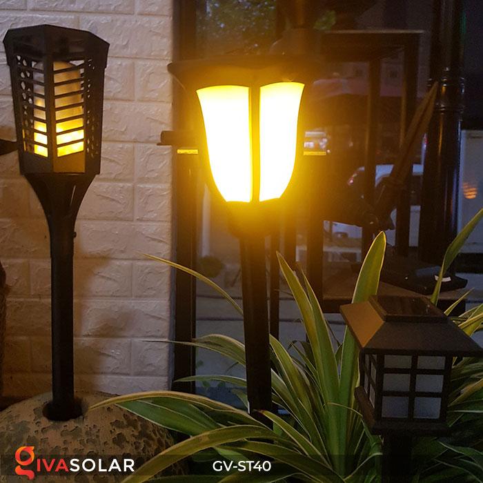 Đèn LED năng lượng mặt trời 3 trong 1 ánh sáng ngọn lửa 14