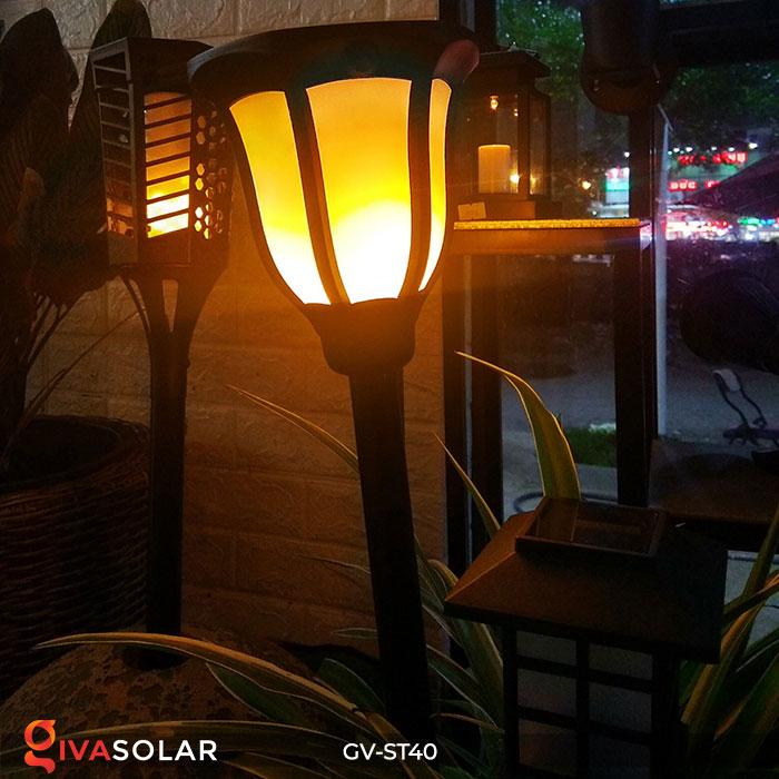 Đèn LED năng lượng mặt trời 3 trong 1 ánh sáng ngọn lửa 15