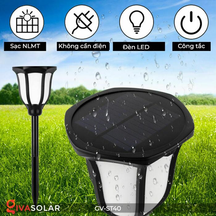 Đèn LED năng lượng mặt trời 3 trong 1 ánh sáng ngọn lửa 18