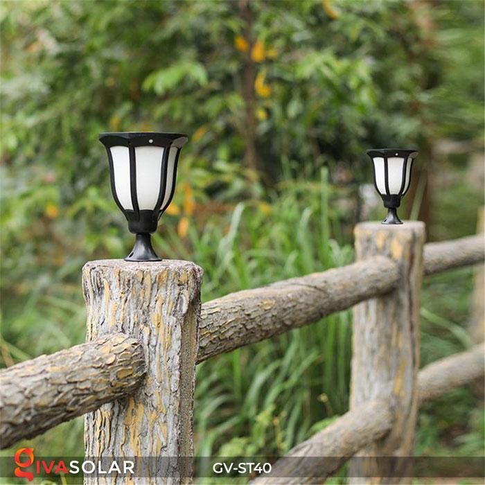 Đèn LED năng lượng mặt trời 3 trong 1 ánh sáng ngọn lửa 5