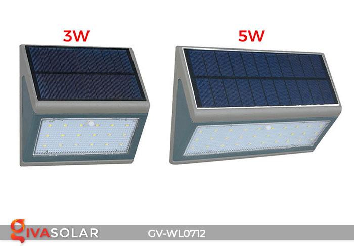 Đèn LED treo tường chạy năng lượng mặt trời GV-WL0712 1