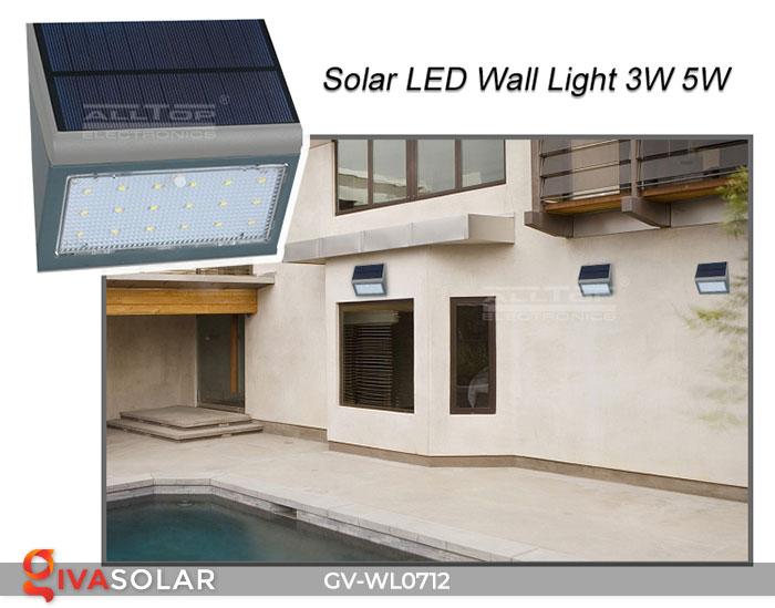 Đèn LED treo tường chạy năng lượng mặt trời GV-WL0712 15