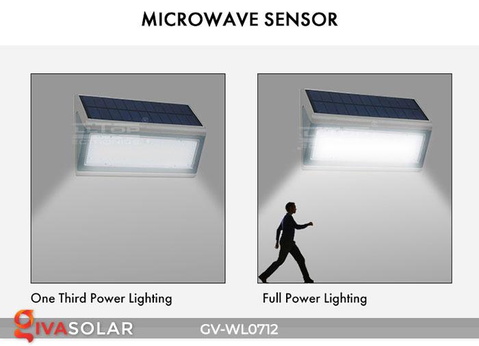 Đèn LED treo tường chạy năng lượng mặt trời GV-WL0712 16