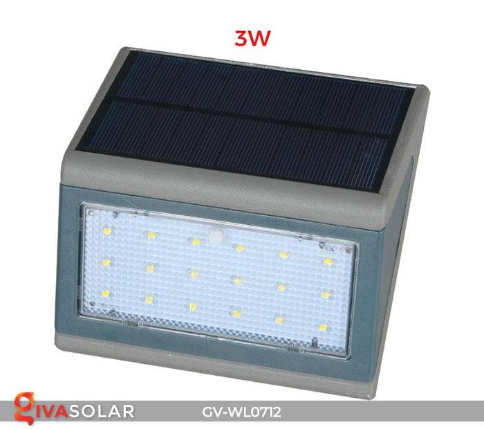 Đèn LED treo tường chạy năng lượng mặt trời GV-WL0712 4