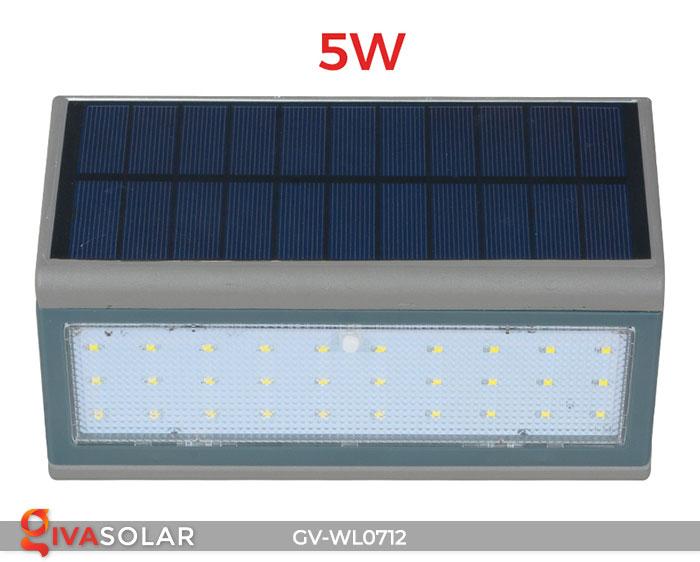 Đèn LED treo tường chạy năng lượng mặt trời GV-WL0712 6