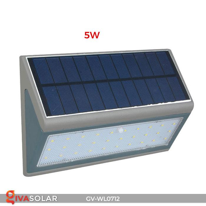 Đèn LED treo tường chạy năng lượng mặt trời GV-WL0712 7