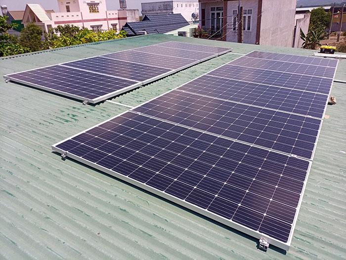 Nhà Trọ kết hợp với Điện mặt trời 4kw 2