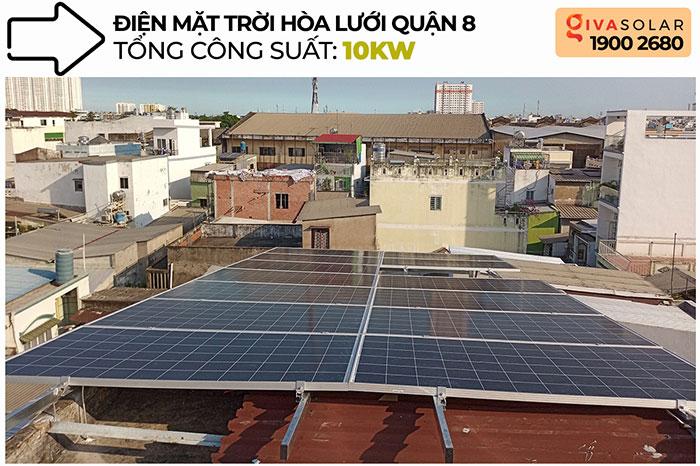 Dự án điện mặt trời hòa lưới 10KW cho gia đình anh Phong ở Quận 8 TPHCM 1