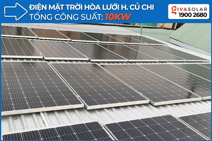 Dự án điện mặt trời hòa lưới cho gia đình anh Tấn ở Củ Chi 10KWp 1