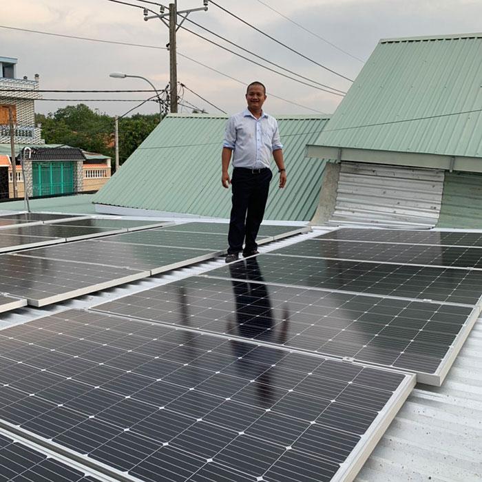 Dự án điện mặt trời hòa lưới cho gia đình anh Tấn ở Củ Chi 10KWp 8