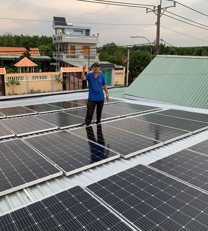 Dự án điện mặt trời hòa lưới cho gia đình anh Tấn ở Củ Chi 10KWp 9