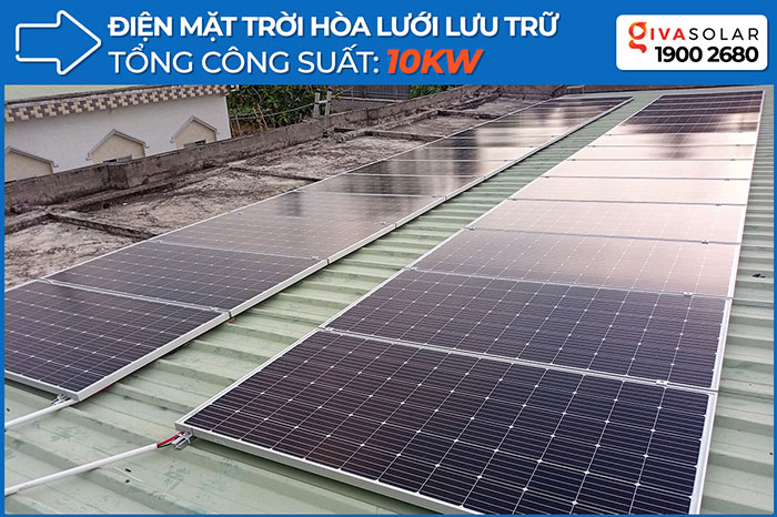 Dự án điện mặt trời hòa lưới có lưu trữ 10KW ở Tiền Giang 1