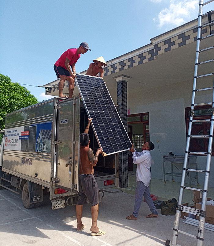 Dự án điện mặt trời hòa lưới có lưu trữ 10KW ở Tiền Giang 2