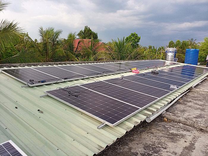 Dự án điện mặt trời hòa lưới có lưu trữ 10KW ở Tiền Giang 5
