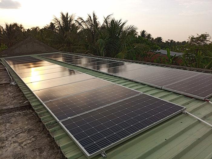 Dự án điện mặt trời hòa lưới có lưu trữ 10KW ở Tiền Giang 7