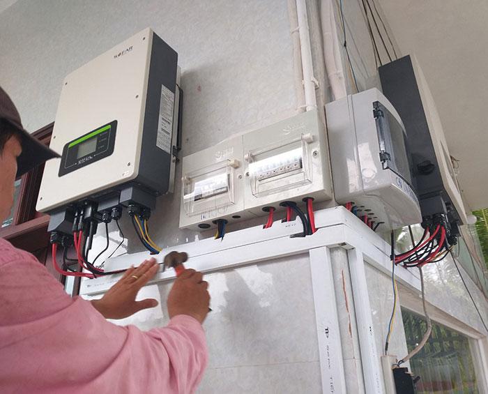 Dự án điện mặt trời hòa lưới có lưu trữ 10KW ở Tiền Giang 8