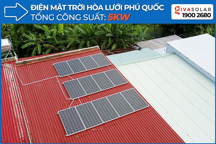 Dự án hệ thống điện mặt trời hòa lưới 5KW ở Phú Quốc 1