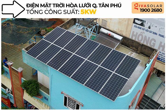 Dự án hòa lưới áp mái 5KW cho gia đình chú Sĩ ở Tân Phú 1